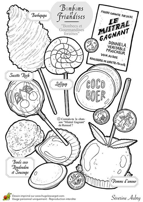 cuisine anglais dessin à colorier bonbons et sucreries les bonbecs