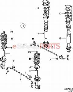 12765952  Saab Rear Shock Absorber Assy