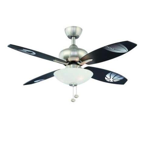hton bay everstar 44 in brushed nickel ceiling fan