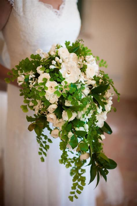 Cascading Bouquet Wedding Is Full Of Flowers And Lush