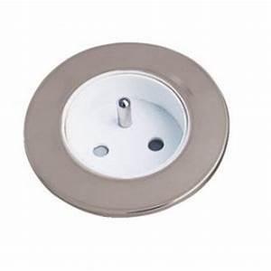 Prise A Encastrer : prise de courant chrom encastrer pour meuble s rie ~ Premium-room.com Idées de Décoration