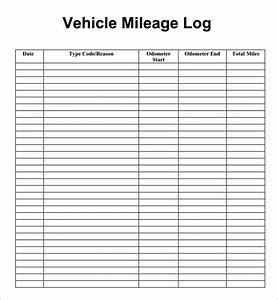 mileage log template 14 download free documents in pdfdoc With mileage invoice template