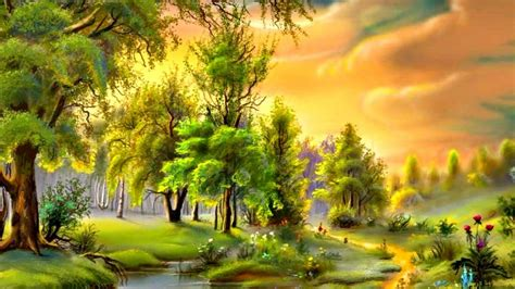 Artistic Nature Wallpaper by 25 Painting Wallpapers Backgrounds Images Pictures