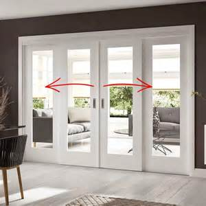 8 Foot French Patio Doors by Easi Slide Op1 White Shaker 1 Pane Sliding Door System In