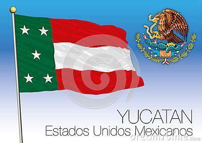 Yucatan regional flag, United Mexican States, Mexico ...