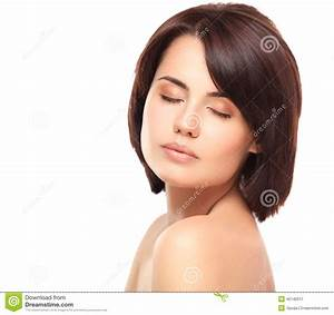 Portrait Of Beautiful Woman With Eyes Closed Stock Image ...
