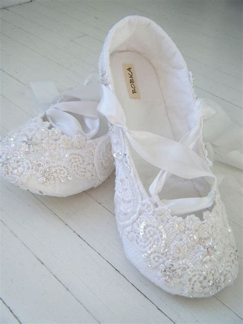bridal shoes flats wedding ballet shoes white crystal