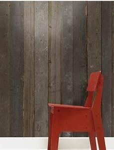 Papier Peint Trompe L Oeil Bois : papier peint trompe l oeil imitation bois ~ Premium-room.com Idées de Décoration