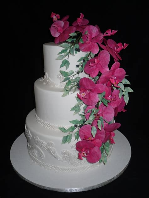 Pink Flowers Wedding Cake Welcome To Cindys Cakes