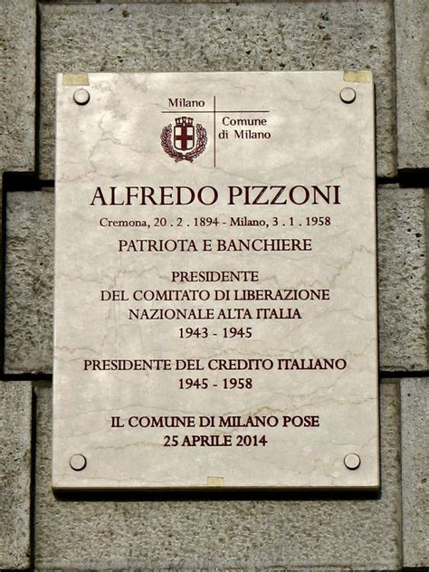 Lapide ad Alfredo Pizzoni - Guida Milano Wiki