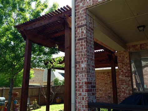 backyard arbor pergola among trees in allen hundt