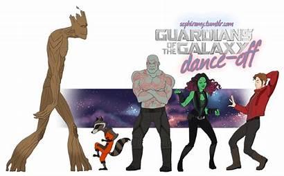 Guardians Galaxy Rocket Gamora Peter Fan Groot
