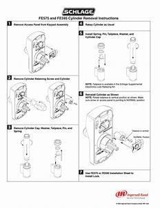 Schlage Fe595 Cylinder Removal User Manual