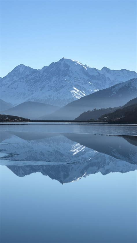 mountains lake  vertical nature photography