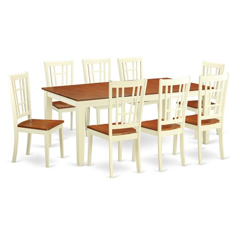 kitchen table 8 chairs east west quincy 9 piece dining set wayfair