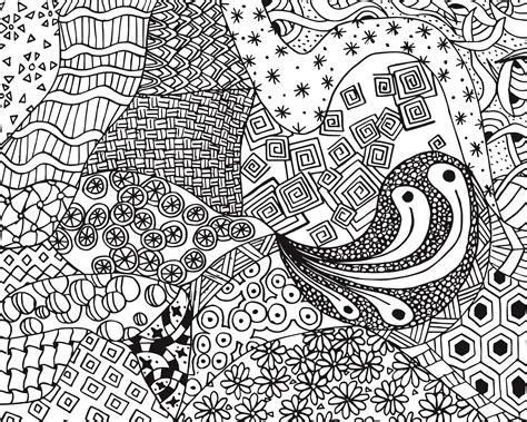 Free Zen Doodle Design Adult Coloring Page