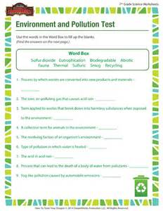 7th Grade Science Worksheets Environment And Pollution Worksheet 7th Grade Science Printable School Of Dragons