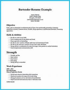 Impressive bartender resume sample that brings you to a for Bartender resume template