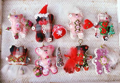beautiful handmade xmas ornaments  olgas etsy shop