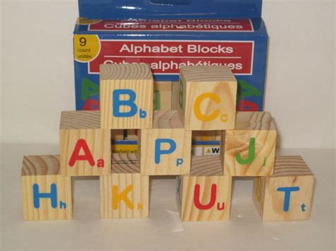 wooden alphabet blocks small   sq solid wood