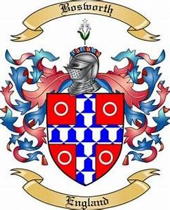 Bosworth Family Crest From England By The Tree Maker