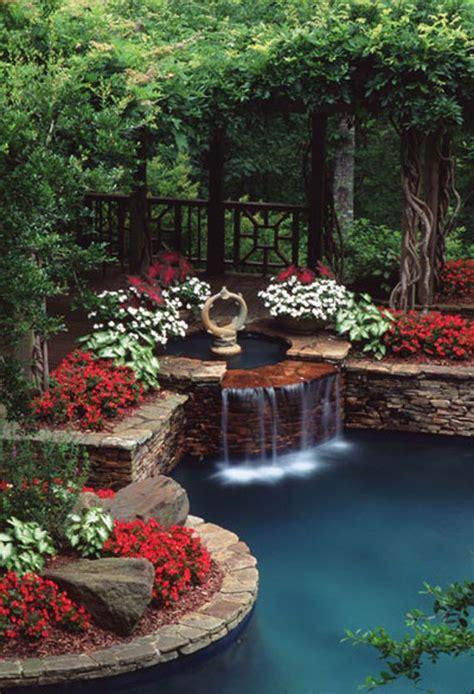 Backyard Flower Garden Design by 30 Beautiful Backyard Ponds And Water Garden Ideas