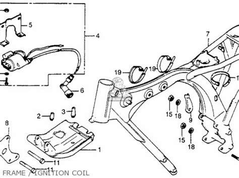 honda xr100 1983 d usa frame ignition coil schematic honda xr100 1983 d usa parts list partsmanual partsfiche