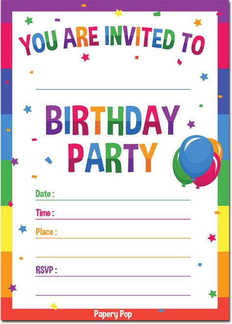 Galleon Birthday Invitations With Envelopes (15 Pack