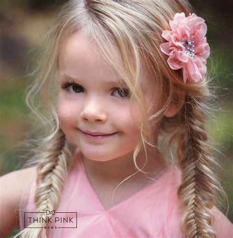 pinky swear flower clippie hairstyles braids and hair