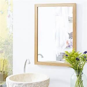 miroir en chene serena oak vente miroirs salle de bain With miroir salle de bain chene