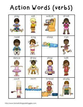 action words verbs action words verb words english lessons