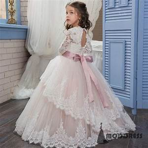 lace flower girl dresses princess pageant dresses kids With kids dresses for weddings
