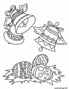 Dessin A Imprimer De Paques : coloriage cloches de paques avec oeuf dessin ~ Melissatoandfro.com Idées de Décoration
