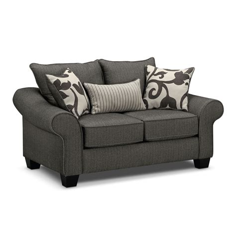 Grey Loveseat by Colette Sofa Loveseat And Accent Chair Set Gray Value