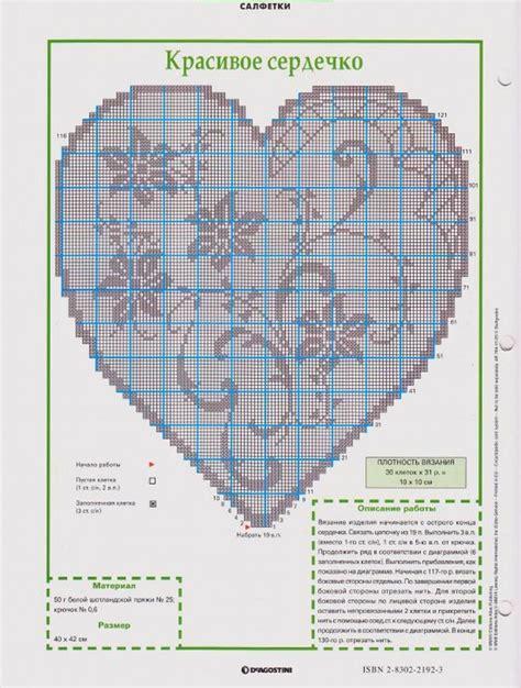 napperon coeur avec des fleurs grille filet crochet