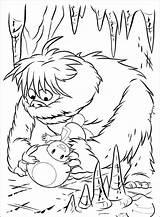 Coloring Yeti Popular sketch template