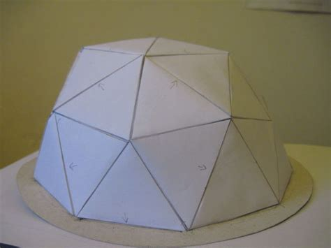 Geodesic Dome Template by Geodesic Paper Dome