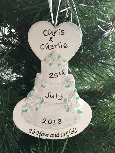 hand personalised christmas decorations