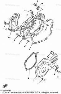 Yamaha Atv 2002 Oem Parts Diagram For Crankcase Cover  1