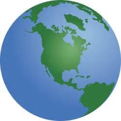 North America Globe Clip Art