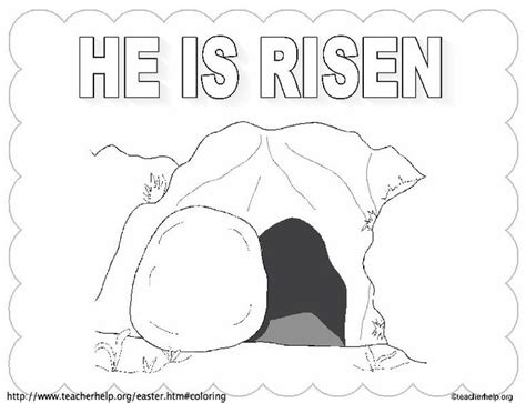Jesus Is Alive! Resurrection Coloring Page on Sunday School Zone | 363x474