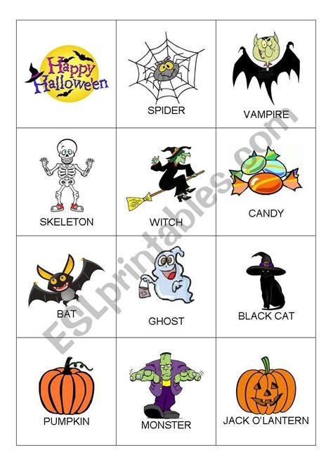 Halloween Flashcards  Esl Worksheet By Keja86