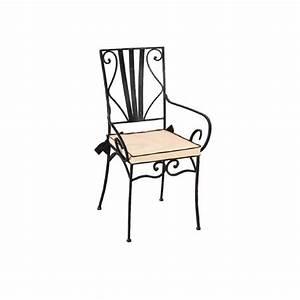 Fauteuil Fer Forgé : fauteuil fer forg marylene matelpro ~ Melissatoandfro.com Idées de Décoration