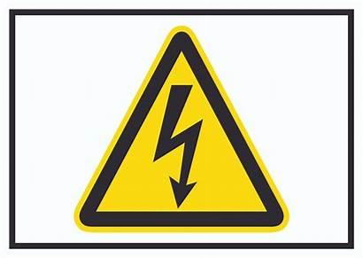 Spannung Elektrische Symbol Druck Vorsicht Hb Schild