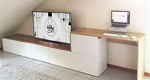 Meubles Besta Ikea : un meuble tv multi fonctions diy iddiy interior design et diy ~ Nature-et-papiers.com Idées de Décoration