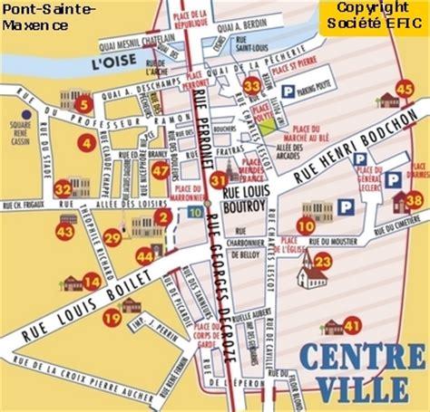 Mairie Ville De Plan De Plan De La Ville De Pont Sainte Maxence