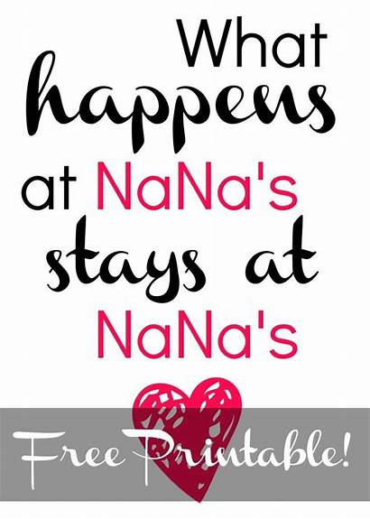 Nana Printable Mothers Mother Clipart Cards Printables