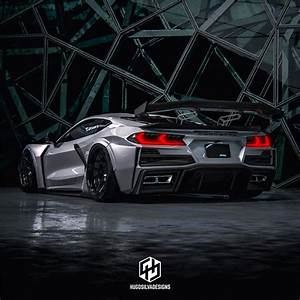 C8 Corvette Designer Pics Sinister Widebody Rendering Pushes The C8 Corvette