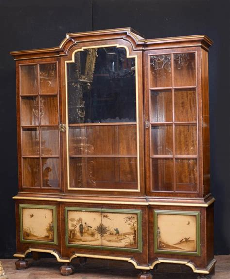 Bookcases With Cabinets by Antique Gillows Painted Display Cabinet Bookcase C 1890