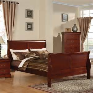 louis philippe iii sleigh panel bed in cherry 1952 louis